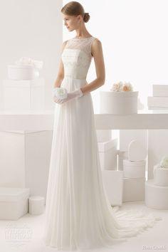 rosa clara 2014 celta sleeveless beaded bodice wedding dress full