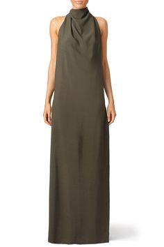 Nina Ricci Olive Green Chignon Gown