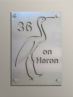 Stainless Steel Cut-Out Plate Signs