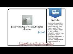 Shop Dash Toilet Paper Holder, Polished Chrome at Maykke