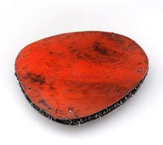 lucia massei, alchimia, textures, pigment, red