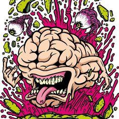skate brain illustration - Google Search