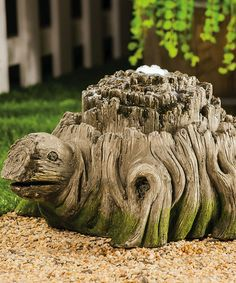 This Woodland Turtle Fountain is perfect! #zulilyfinds