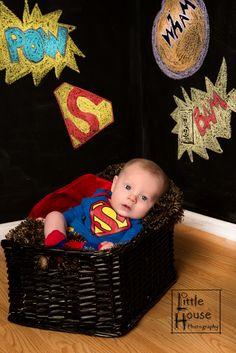 Superman baby picture http://littlehousephotography.zenfolio.com/
