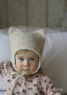 Ravelry: Earflap hat Kitty Cat pattern by Muki Crafts
