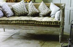linen-and-lavender-settee-french-cushion-linen-bench-provencal-country eclectic-home-room-ideas