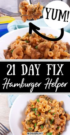 This Healthy Homemade Hamburger Helper is so easy to make and tastes better than the store bought stuff! It's a 21 Day Fix recipe that your whole family will love and is perfect for a quick weeknight Quick Weeknight Dinners, Easy Healthy Dinners, Healthy Dinner Recipes, 21 Day Fixate Recipes, Healthy Hamburger Recipes, 21 Day Fix Diet, 21 Day Fix Meal Plan, Homemade Hamburger Helper, Homemade Hamburgers