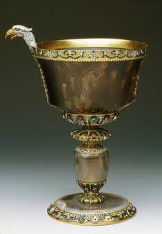"""""""Vaso de sardónice con cabeza de águila"""", Anónimo, último tercio del siglo XVII"""