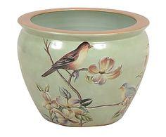 Macetero en porcelana Oriental - 38x29 cm