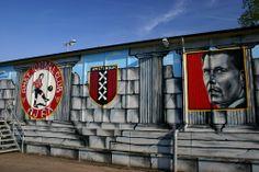 Van Basten Ajax Amsterdam City Centre, Durham Region, Best Club, Best Player, Berlin Germany, Royal Navy, Wall Murals, Graffiti, Legends