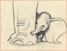 A young Bill Peet sketches elephants at a circus, backstage around 1940. He ended up doing story work on critically important person...
