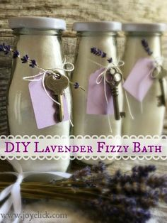 DIY LAVENDER FIZZY BATH SALTS: Nature's perfect remedy for much more than sore muscles. | Farm Girl Inspirations: www.joyelick.com.