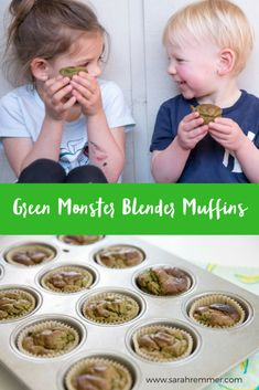 *Check out my full post to learn how you can win FREE EGGS FOR A YEAR!* We love muffins – especially ones that you can make in a blender! And as a dietitian, I love when I can include nutritious super foods like eggs, seeds, leafy gree Healthy Meals For Kids, Kids Meals, Healthy Recipes, Snack Recipes, Dessert Recipes, Muffin Recipes, Healthy Choices, Desserts, Protein