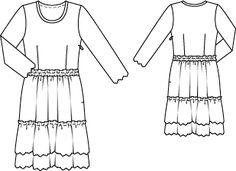 Платье: Burda 6/ 2012/ 122 / Burdastyle
