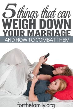 It makes sense that someone would guard a valuable treasure. What doesn't make sense is when we don't guard our marriage. What weighs down a marriage, and what can we do to combat it? Of course there are many heavy weights out there, but there are five that appear to be common among marriages.