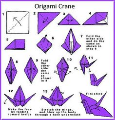 classic paper crane origami instructions origami. Black Bedroom Furniture Sets. Home Design Ideas