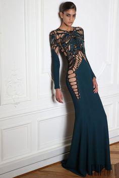 """Zuhair Murad """"Microcosmos"""", F/W 2014-2015 - Ready-to-Wear - http://www.flip-zone.net/fashion/ready-to-wear/fashion-houses-42/zuhair-murad-4638"""