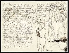 Illustrated letter from Max Bohm to Emilie Bohm