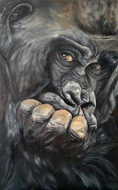 Painting Portraits, Eye Painting, Animal Paintings, Animal Drawings, Original Paintings, Original Art, Sad Eyes, Black Picture, Photorealism