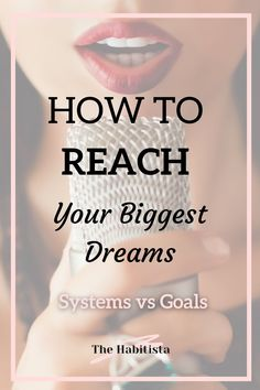 Combine goals, habits and systems to reach your biggest goals - your wildest dreams - one step at a time! Systems vs Goals | build habits | intentional living | how to better yourself Achieving Goals, Achieve Your Goals, Life Values, Long Term Goals, Give Directions, Feeling Hopeless, Finance Organization, To Strive, To Reach