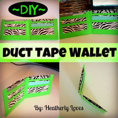 Heatherly Loves shared with us her tutorial DIY Duct Tape Wallet. She did a super job with the tutorial and it looks easy! This would be a fun project for the kids!