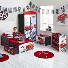cars toddler bed | Disney Cars Toddler Bed with Underbed Storage & Shelf - snuggle up to ...
