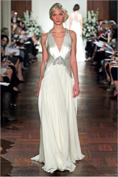 A gorgeous Art Deco inspired gown from Jenny Packman's incredible 2013 collection.