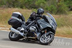 2014 BMW R1200RT on-road cornering action