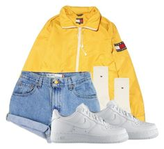 """""""Untitled #186"""" by outfits2dope ❤ liked on Polyvore featuring Tommy Hilfiger, Levi's and NIKE"""