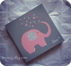 Elephant LoveArt by 2Messy on Etsy, $29.00