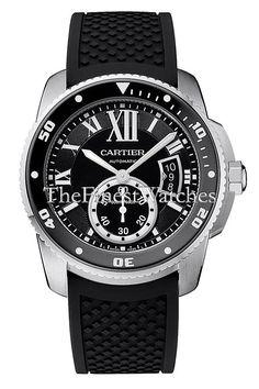 46191811002 Cartier Calibre Diver watch - W7100056. Round stainless steel case (42mm  diameter x 12.7