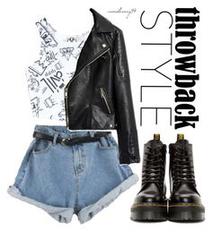 """Throwback Style: Dr. Martens"" by avonsblessing94 ❤ liked on Polyvore featuring Dr. Martens, Civil and vintage"