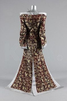 Alexander McQueen for Givenchy crêpe de chine jump suit and brocaded kimono, Autumn-Winter, 1997 haute couture collection, labelled Givenchy haute couture, no 28, at.Catherine,