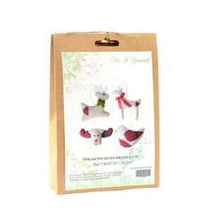 Christmas Novelty DIY Craft Kit Create a linen bird and deer. Have fun creating Christmas decorations to hang around your home or to give as a special handmade gift. Craft Kits, Diy Kits, Craft Projects, Christmas Crafts, Christmas Decorations, Christmas Ornaments, Xmas Gifts, Homemade Gifts, Fun Crafts
