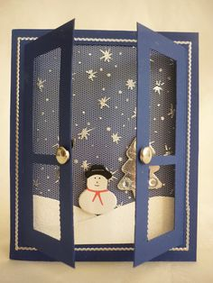 Snow scene Window card - bjl