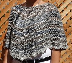 This pattern is made using US crochet terms.  The poncho is worked in the round, top down, and the neck edging is added last. free pattern