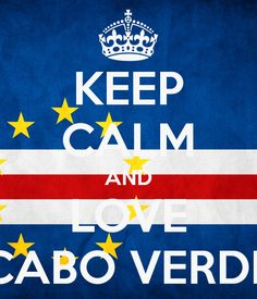 keep calm flag CABO VERDE