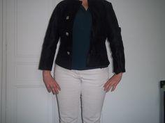 veste en cuir noire