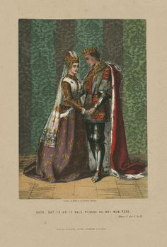 "Robert Dudley. Katherine: ""Dat is as it sall please de roi mon père."" Henry V. 19th century. Folger Shakespeare Library."