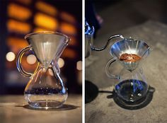 Chemex Coffee Maker - glass handle $35 I don't drink coffee but I want this coffee maker. via notcot.com