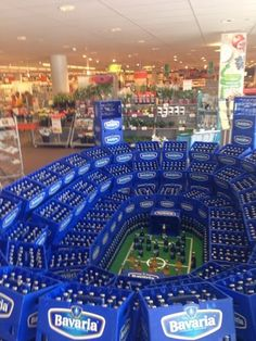 "Haha! Awesome, ready for the #worldcup! ""More Fun With Beer Displays"""
