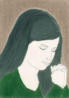 ぬり絵16「祈る2」