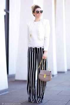ann taylor stripe pants, wide leg pants, stripe wide leg pants, chloe drew motty grey