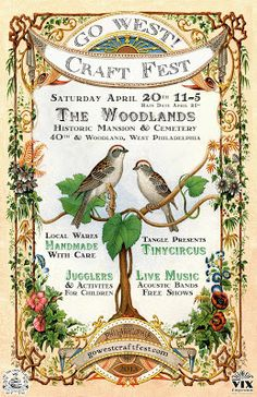 GO WEST! Craft Fest, April 20th, The Woodlands, West Philadelphia