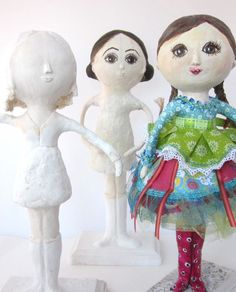 Art Doll Mixed Media Paper Mache Girl