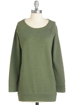 Your Coziest Choice Sweatshirt. Some days, you just have to go snuggly! #green #modcloth