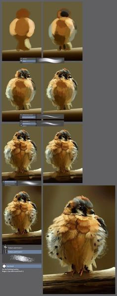 The little angry bird: step by step tutorial by XGingerWR on DeviantArt (painting canvas step by step) Painting Process, Painting Lessons, Painting Tips, Watercolour Painting, Painting & Drawing, Acrylic Paintings, Oil Painting For Beginners, Watercolor Water, Drawing Step