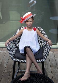 MimiSol summer 2013 kids designer fashion. The Black and White trend for girls.