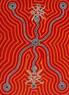 'Bush Onion Ceremony', acrylic on linen by Sabina-Brown-Nampitjipa. AUD 6500