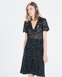 ZARA - NEW THIS WEEK - POLO COLLAR LACE TOP